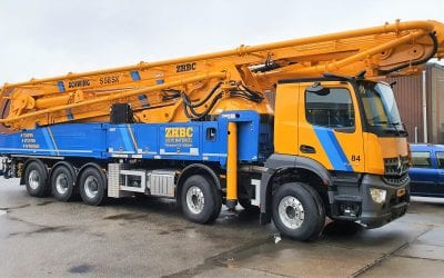 Nieuwe betonpomp KVM S 58 SX